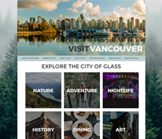 tourism sample website