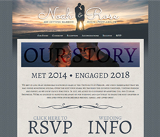 wedding couple sample website