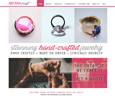jewelry store sample website